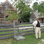 James Bennett in Front of His Farm