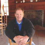 John Guss, site manager inside the Bennett Home